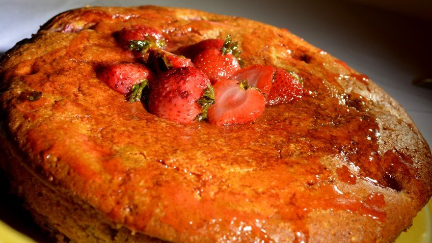 Strawberry Yogurt Cake